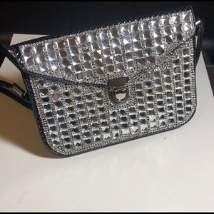 Handbags - Black bling crossbody pouch purse